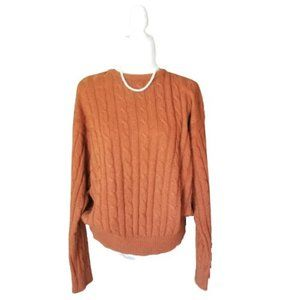 Vintage Carriage Court Crew Neck Camel Sweater